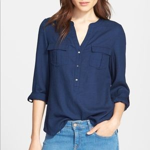 Joie alessia roll sleeve blouse